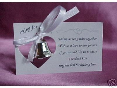 Wedding Bell Favors Poem by Top Discount Finder