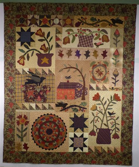 Country Primitive Quilt Patterns by 536 Best Quilts Appliquing Images On