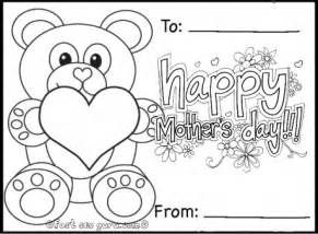 printable mothers day cards to color printable happy mothers day teddy card coloring in
