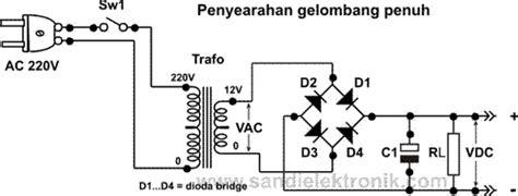 dioda bridge yang bagus penyearahan gelombang penuh dioda bridge dengan kondensator perata sandi elektronik