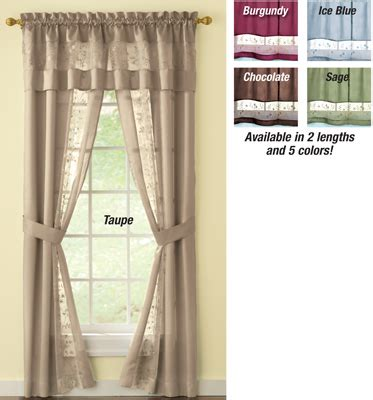 all in one curtains embroidered silk fairfield valance curtain set from