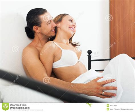 adults in bed adult lovers in bed stock photo image 45532663