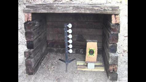build  small backyard shooting range youtube