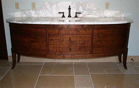 Bathroom Vanity Legs Walnut Curved Vanity Furniture Luedecke Woodworks