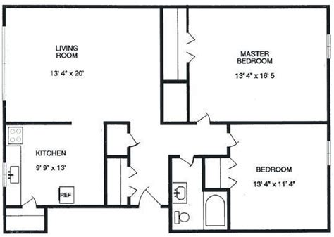 Standard Size Of A Master Bedroom by Average Size Of One Bedroom Apartment In Nyc Www