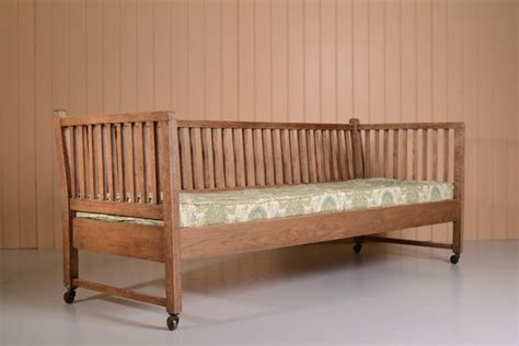 Rare Heals Antique Oak Sofa Bed 300474 Sellingantiques Antique Sofa Beds