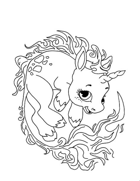 coloring pages of coloring pages of baby unicorns free