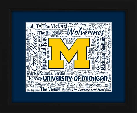 art design umich university of michigan wolverines gift idea for christmas