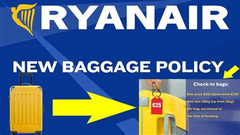 ryanair cabin baggage allowance new ryanair baggage policy youtube