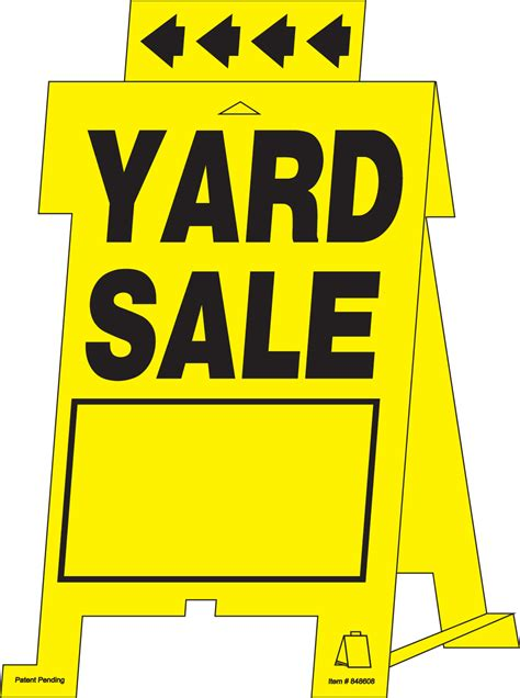 garage yard sale tent signs on the hillman