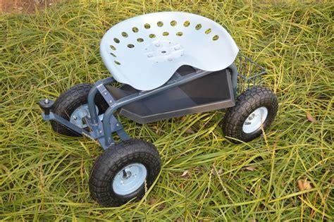 nrs garden stool on wheels plastic tray storage garden work rolling stool cart buy