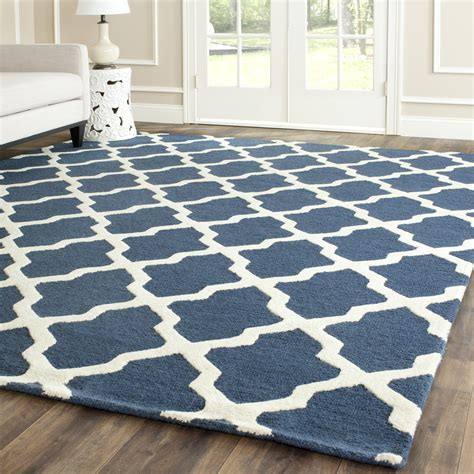 Navy Blue And Area Rugs by Safavieh Cambridge Navy Blue Ivory Wool Area Rug