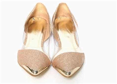 clear flats shoes free shipping euramerican metal shining clear pointed toe