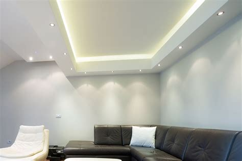 Lighting On Ceiling Led Light Plasterboard Vcut