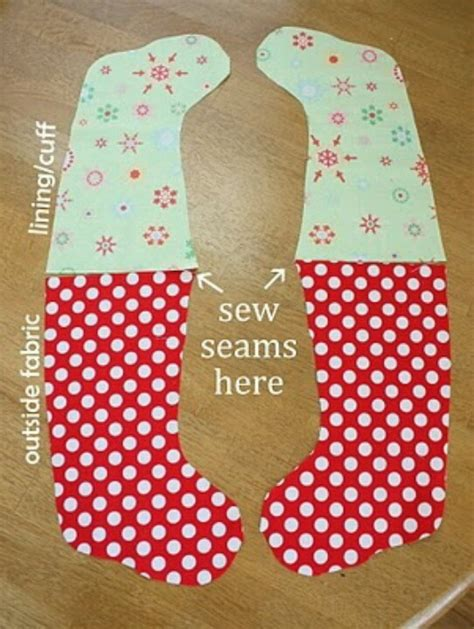 sewing pattern on pinterest christmas diy stockings sewing pinterest