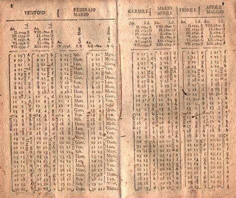 Calendario Giuliano Archivio Storico Della Citt 224 Di Torino