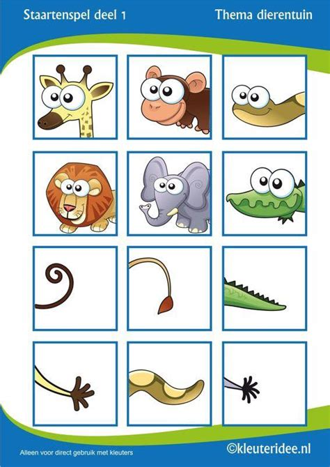 printable animal tails animals tail match 1 171 preschool and homeschool