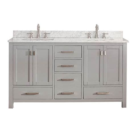 Modero Chilled Gray 60 Inch Double Vanity Only Avanity Bathroom Vanities 60 Inch