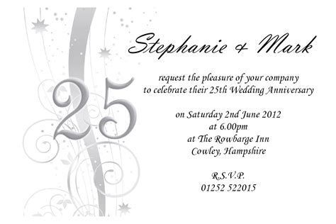 25th Wedding Anniversary Invites : 25th wedding
