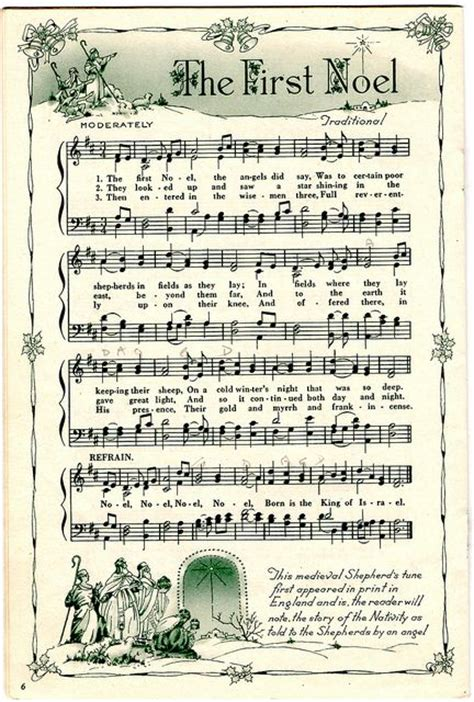 printable christmas hymns printable sheet music gift wrapping and music sheets on