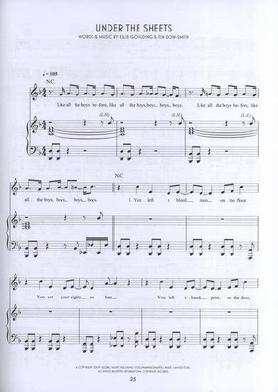 your tattoo chords your song free sheet music piano ellie goulding ellie
