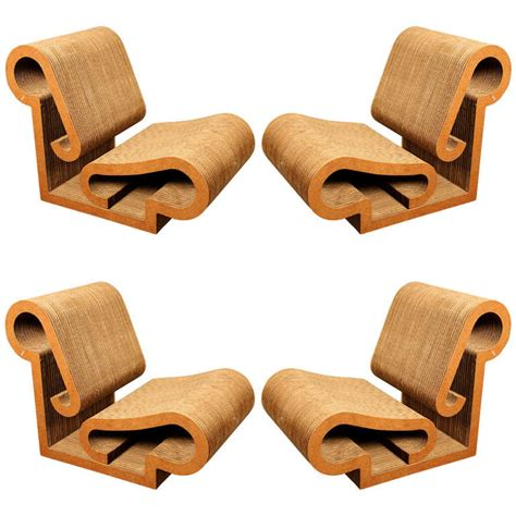 Ghery Chair - set of 4 quot contour quot lounge chairs by frank gehry for