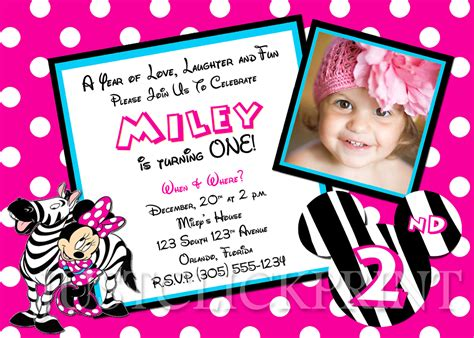 minnie mouse 1st birthday invitations templates minnie mouse birthday invitations template best