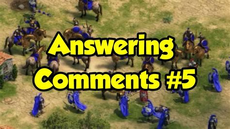 Answering Your Comments by Answering Comments 5
