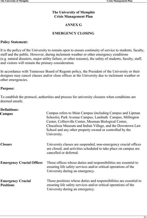 sle crisis management plan template crisis management plan template for free page
