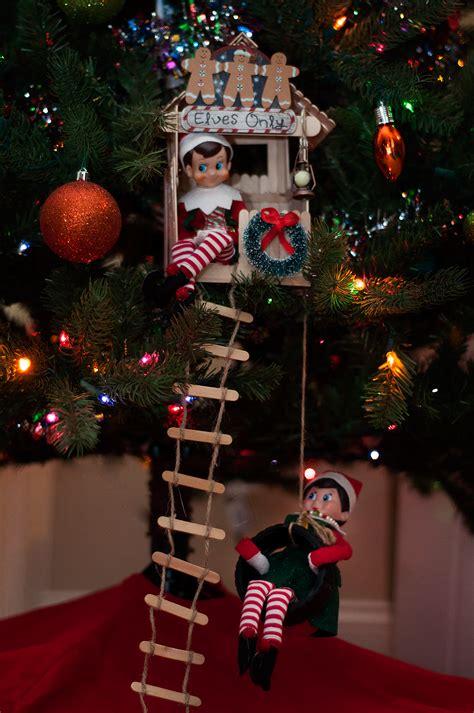 elf christmas tree house elf christmas tree christmas elf awesome elf   shelf ideas