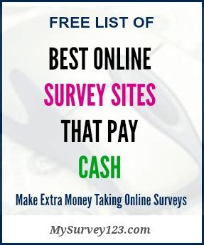 Reliable Surveys For Money - best online survey sites that pay cash via paypal or check