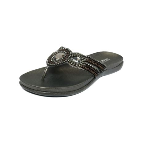 kenneth cole flat shoes kenneth cole reaction all glam flat sandals in silver