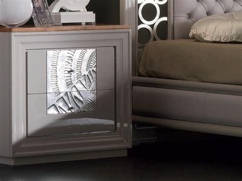 comodini foglia argento comodino foglia argento con cassetti collezione 201 toile