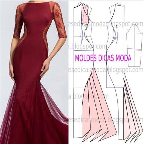 moldes vestidos de fiesta molde de vestido de festa com passo a passo patrones de