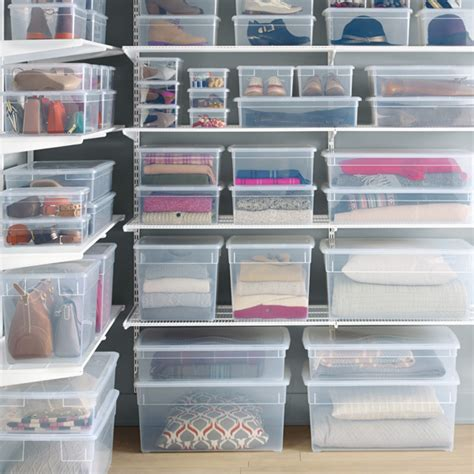 Garage Clothing Store Application Shoe Box Our Clear Plastic Shoe Box The Container Store