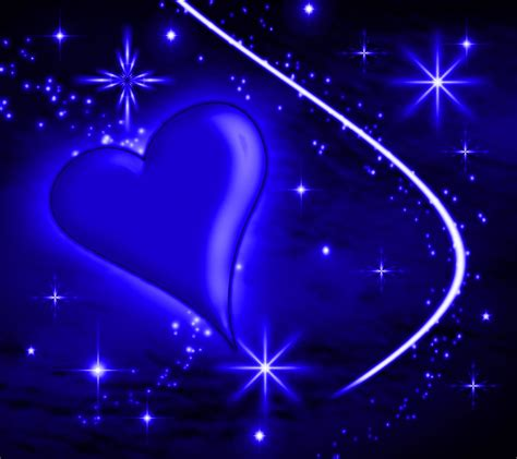 wallpaper blue heart pictures blue heart with plasma stars background 1800x1600