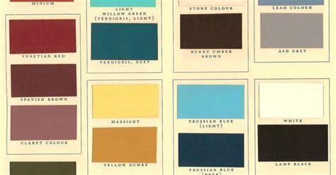 kwal paint color chart historic paints ltd bedrooms