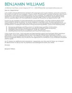 School Admin Assistant Cover Letter by Administrative Assistant Cover Letter Exles For Admin Livecareer