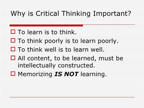 why education is important essay sles what is so important about critical thinking importance