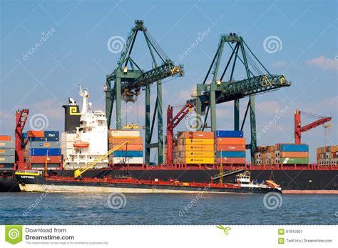 anversa porto porto di anversa belgio fotografia editoriale immagine