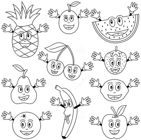 cartoon fruits coloring pages coloring pages vegetables