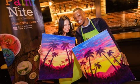 groupon paint nite painting and wine heartwood oak and paint nite