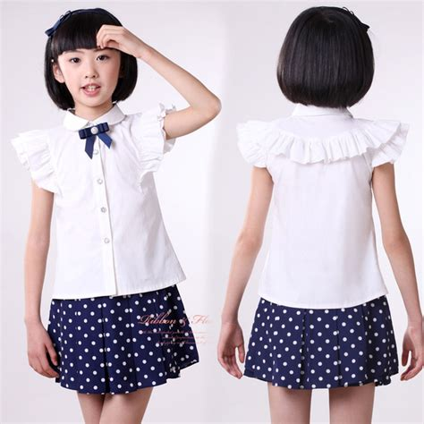Blouse Murah High Quality blouse for shirts 2017 cotton white blouses high quality solid school
