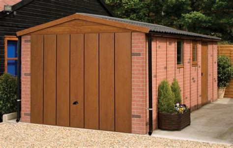 Concrete Garage Prices Uk by Compton Concrete Garages Flat Brick Prefabricated
