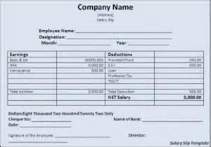 basic employee salary slip format template excel