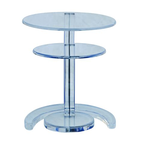 Acrylic Side Table by Blue Acrylic Circular Nesting Side Tables Ebay