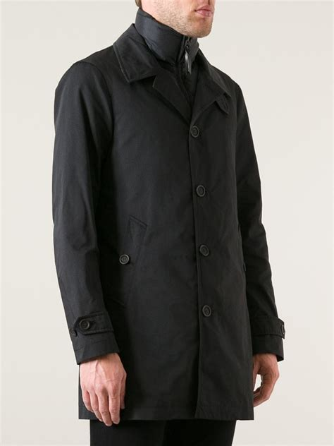 Kemeja Burberry Brit Classic Edition lyst burberry brit padded layer trench coat in black for