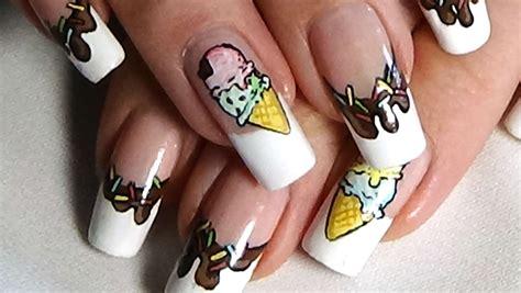 nail art ice cream tutorial quick simple cute ice cream nail art tutorial youtube