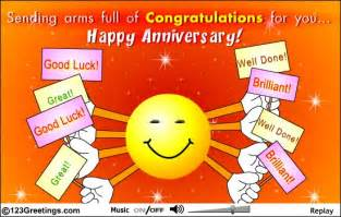 Happy corporate anniversary to you free at work etc ecards 123