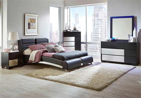 bedroom sets for less coaster havering upholstered platform bedroom set black